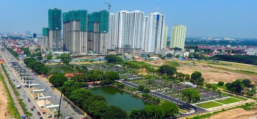 Dự án Goldmark City (số 136, Hồ Tùng Mậu, Q. Bắc Từ Liêm, Hà Nội) có diện tích xây dựng 23,3% trong tổng số 12ha, phần diện tích còn lại dành cho cây xanh và cảnh quan, tiện ích trong dự án.